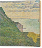 Seascape At Port En Bessin Normandy Wood Print by Georges Seurat