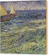 Seascape At Saintes-maries 1888 Wood Print