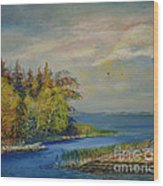 Seascape From Hamina 3 Wood Print