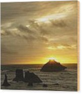 Seascape Oregon Coast 2 Wood Print