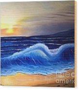 Seascape Wave Wood Print