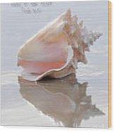 Seashell Be Still Wood Print