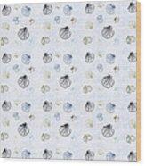 Seashell Pattern Wood Print