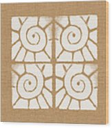 Seashell Tiles Wood Print