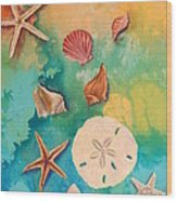 Seashells Fantasy Wood Print