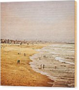 Seashore At Manhattan Beach Wood Print