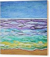 Seashore Blue Sky Wood Print