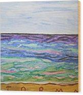 Sunny Seashore  Wood Print