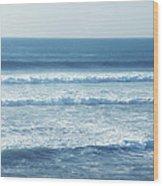 Seaside Blue Wood Print