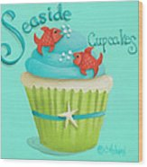 Seaside Cupcakes Wood Print