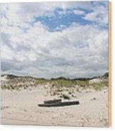Seaside Driftwood And Dunes Wood Print