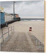 Seaside Heights Beach Wood Print by John Rizzuto