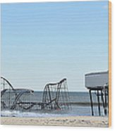 Seaside Heights Jetstar Wood Print