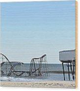Seaside Heights Jetstar Wood Print by Sami Martin