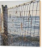 Seaside Nets Wood Print