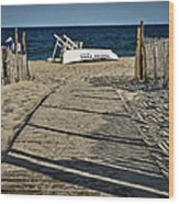 Seaside Park New Jersey Shore Wood Print