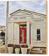 Seaside Post Office Wood Print