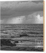 Seaside Rainstorm 2 Wood Print