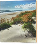 Seaside Serenity I - Outer Banks Wood Print by Dan Carmichael