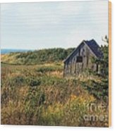 Seaside Shed - September Wood Print