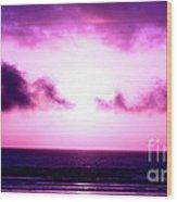 Seaside Sunset Wood Print