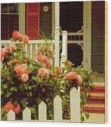 Seaside Victorian Cottage Wood Print