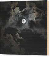Seasonal Blue Moon II Wood Print