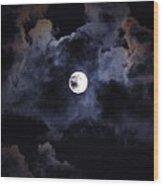 Seasonal Blue Moon IIi Wood Print