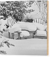 Seasonal Yard Furniture Wood Print