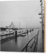 seaspan marine tugboat dock city of north Vancouver BC Canada Wood Print by Joe Fox