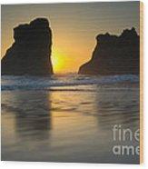 Seastacks, Oregon Wood Print