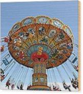 Seaswings At Santa Cruz Beach Boardwalk California 5d23901 Wood Print by Wingsdomain Art and Photography