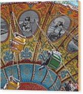 Seaswings At Santa Cruz Beach Boardwalk California 5d23906 Wood Print