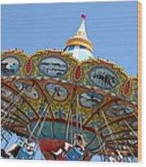 Seaswings At Santa Cruz Beach Boardwalk California 5d23907 Wood Print