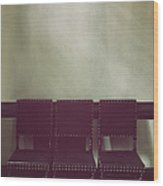 Seating For Three Wood Print by Margie Hurwich