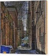 Seattle Alleyway Wood Print