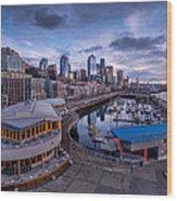 Seattle Bell Street Pier Wood Print
