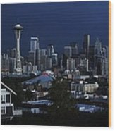 Seattle Blues Wood Print