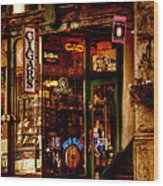 Seattle Cigar Shop Wood Print