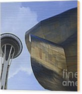 Seattle Emp Building 4 Wood Print