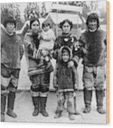 Seattle Eskimo Family Wood Print
