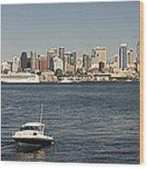 Seattle From Alki Beach Wood Print