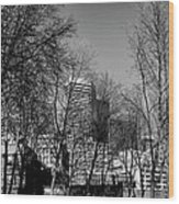 Seattle From Pioneer Square Wood Print