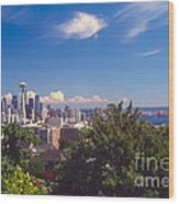 Seattle From Queen Anne Hill Wood Print