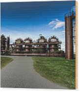 Seattle Gas Light Company Gasification Towers Wood Print
