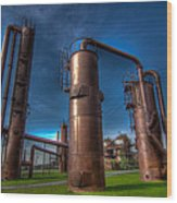 Seattle Gas Works Park Wood Print
