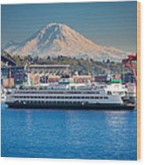 Seattle Harbor Wood Print