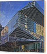 Seattle Library Wood Print