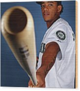 Seattle Mariners Photo Day Wood Print