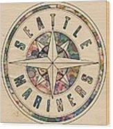 Seattle Mariners Poster Vintage Wood Print